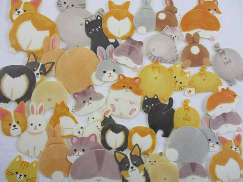 Cat Dog Hamster Rabbit derriere Flake Stickers - 32 pcs