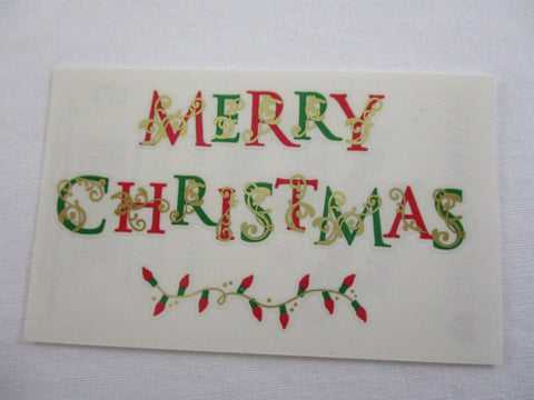 Mrs Grossman Bright Merry Christmas Sticker Sheet / Module - Vintage & Collectible 2009