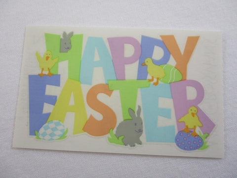 Mrs Grossman Happy Easter Sticker Sheet / Module - Vintage & Collectible 2006