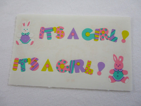 Mrs Grossman It's a Girl Sticker Sheet / Module - Vintage & Collectible 1993