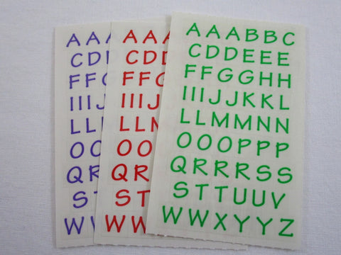 Mrs Grossman Alphabets Sticker Sheet / Module - Vintage & Collectible