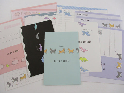 Crux Dog Dino Fish Pig Letter Sets - Stationery Writing Paper Envelope