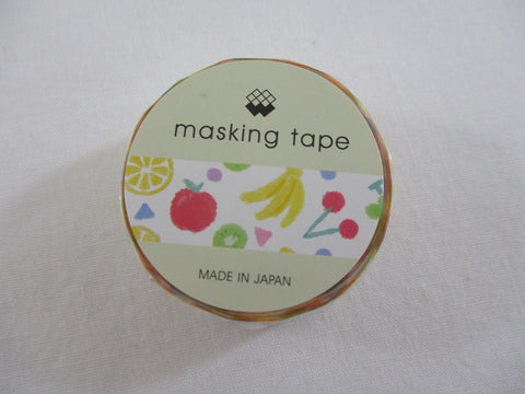 Cute Kawaii Mind Wave Fruits Washi / Masking Deco Tape - for Scrapbooking Journal Planner Craft