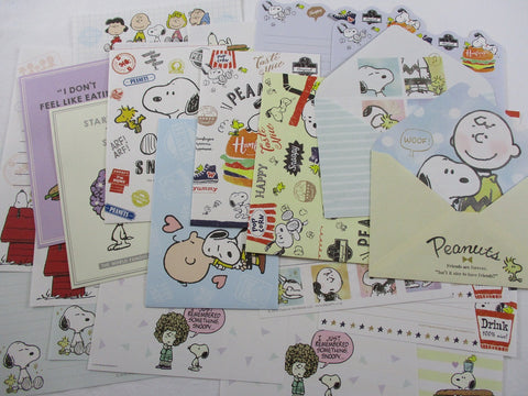 Cute Kawaii  Peanuts Snoopy Letter Paper + Envelope Theme Set