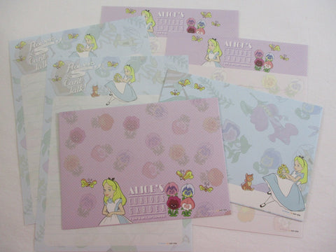 Cute Kawaii Alice Flower Garden Letter Sets - Writing Paper Stationery