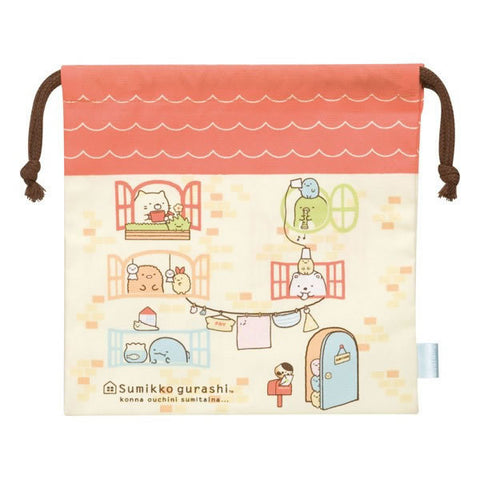 Cute Kawaii San-X Sumikko Gurashi Home Drawstring Cotton Pouch / Bag