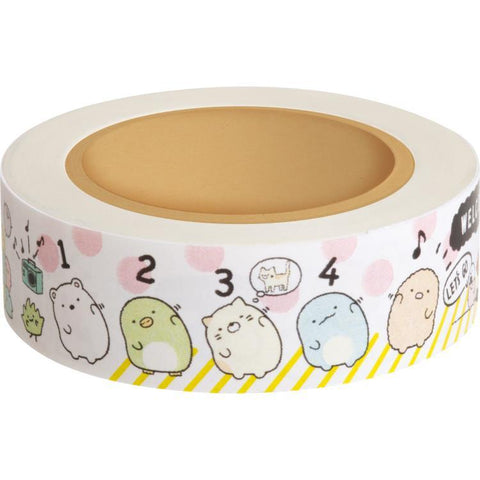 Cute Kawaii San-X Sumikko Gurashi Washi / Masking Deco Tape - C - for Scrapbooking Journal Planner Craft