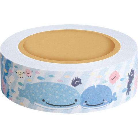 Cute Kawaii San-X Jinbesan Whale Washi / Masking Deco Tape - A - for Scrapbooking Journal Planner Craft