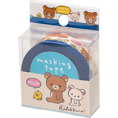 Cute Kawaii San-X Rilakkuma Washi / Masking Deco Tape - A - for Scrapbooking Journal Planner Craft