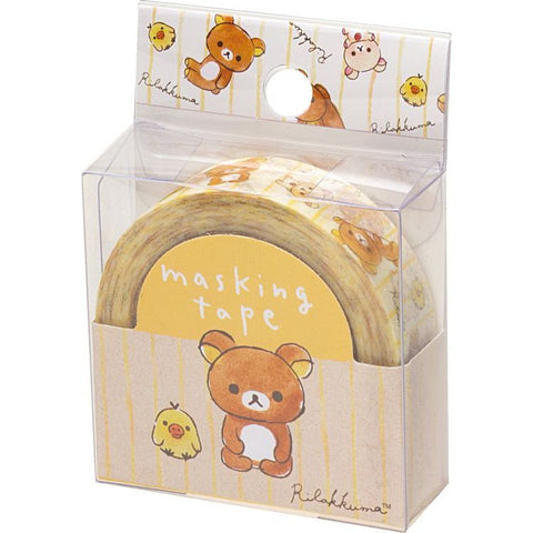 Cute Kawaii San-X Rilakkuma Washi / Masking Deco Tape - D - for Scrapbooking Journal Planner Craft