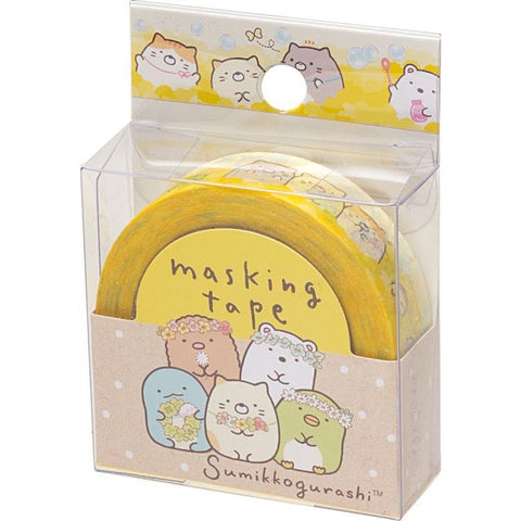 Cute Kawaii San-X Sumikko Gurashi Washi / Masking Deco Tape - D - for Scrapbooking Journal Planner Craft