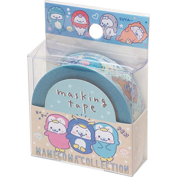 Cute Kawaii San-X Mamegoma Seal Washi / Masking Deco Tape - A - for Scrapbooking Journal Planner Craft