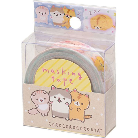 Cute Kawaii San-X CoroNya Cat Washi / Masking Deco Tape - A - for Scrapbooking Journal Planner Craft