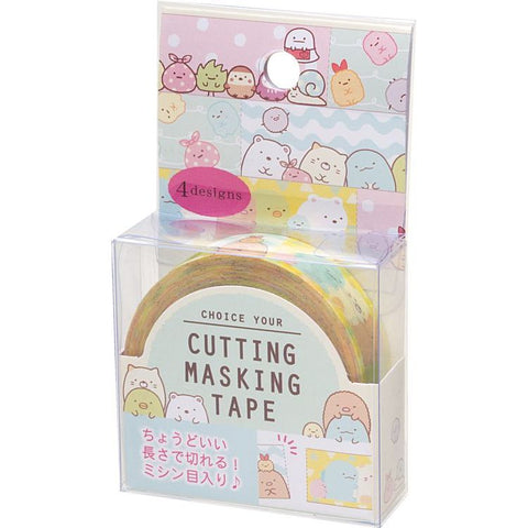 Cute Kawaii San-X Sumikko Gurashi 4 designs Washi / Masking Deco Tape - B - for Scrapbooking Journal Planner Craft