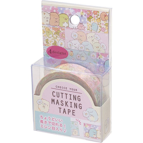 Cute Kawaii San-X Sumikko Gurashi 4 designs Washi / Masking Deco Tape - A - for Scrapbooking Journal Planner Craft