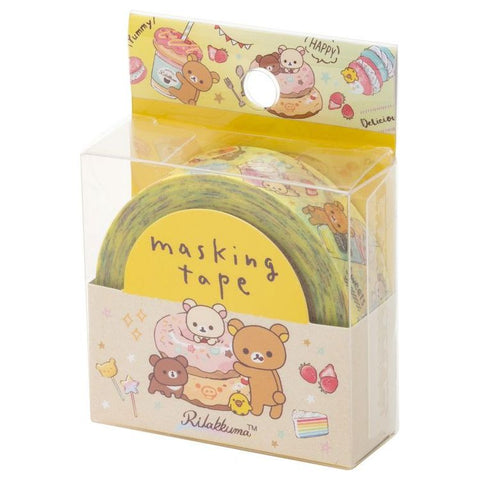 Cute Kawaii San-X Rilakkuma Washi / Masking Deco Tape - E - for Scrapbooking Journal Planner Craft