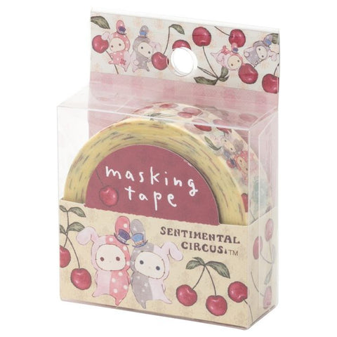 Cute Kawaii San-X Sentimental Circus Washi / Masking Deco Tape - B - for Scrapbooking Journal Planner Craft