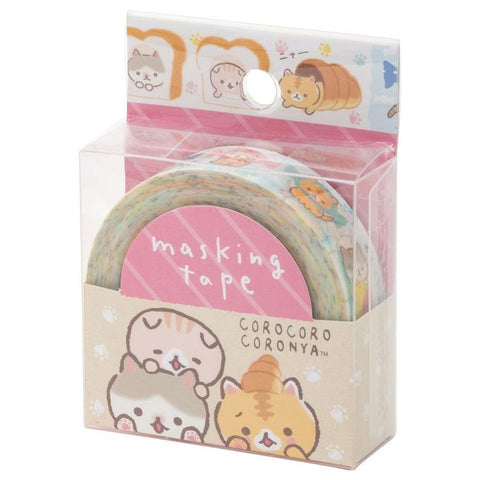 Cute Kawaii San-X CoroNya Cat Washi / Masking Deco Tape - B - for Scrapbooking Journal Planner Craft