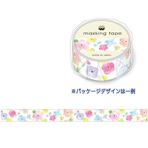 Cute Kawaii Mind Wave Flower Washi / Masking Deco Tape - for Scrapbooking Journal Planner Craft