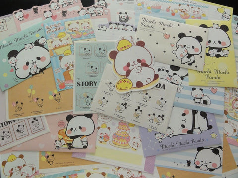 Cute Kawaii Panda Friends Letter Paper + Envelope Theme Set