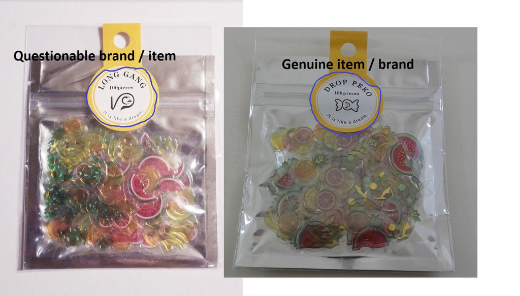 Comparing Genuine Sack Flake Stickers vs Questionable product Kawaii cute  San-X Crux Mind Wave