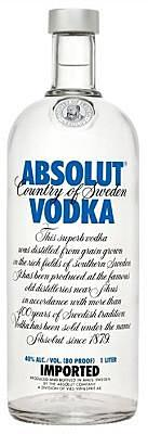 Absolut Blue Vodka Sweden