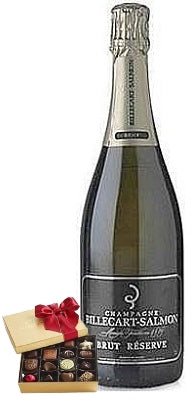 Billecart-Salmon Brut Réserve Champagne with Chocolate Gift Box