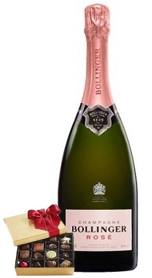 Bollinger Spécial Cuvée Rosé Champagne with Chocolate Gift Box