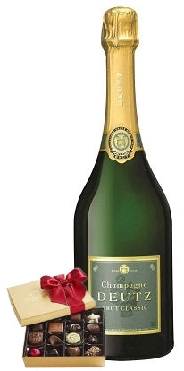 Deutz Brut Champagne with Chocolate Gift Box