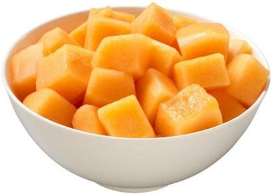 Fresh Cut Sliced Cantaloupe Melon