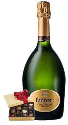 Ruinart Brut Champagne with  Chocolate Gift Box
