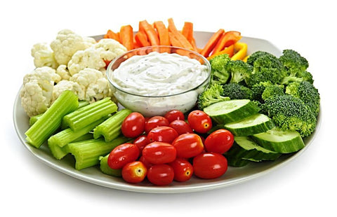 Vegetables Crudités Platter Bespoke For St Barths Villa Rental