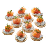 Smoked Salmon Blinis Tray with Dilled Yogurt