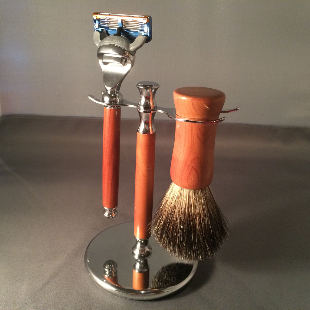 Bermuda Cedar Shaving set ( 3 pieces )
