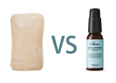 Bar Soap vs Cleansing Milk