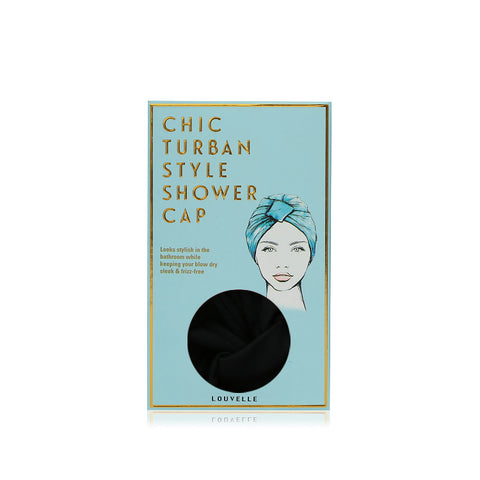 Louvelle Shower Cap - Amelie Black Showerwear