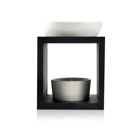 Ceramic/Timber Oild Burner - Black