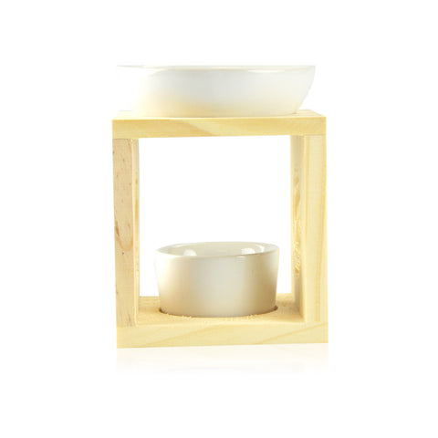 Ceramic/Timber Oild Burner - Natural