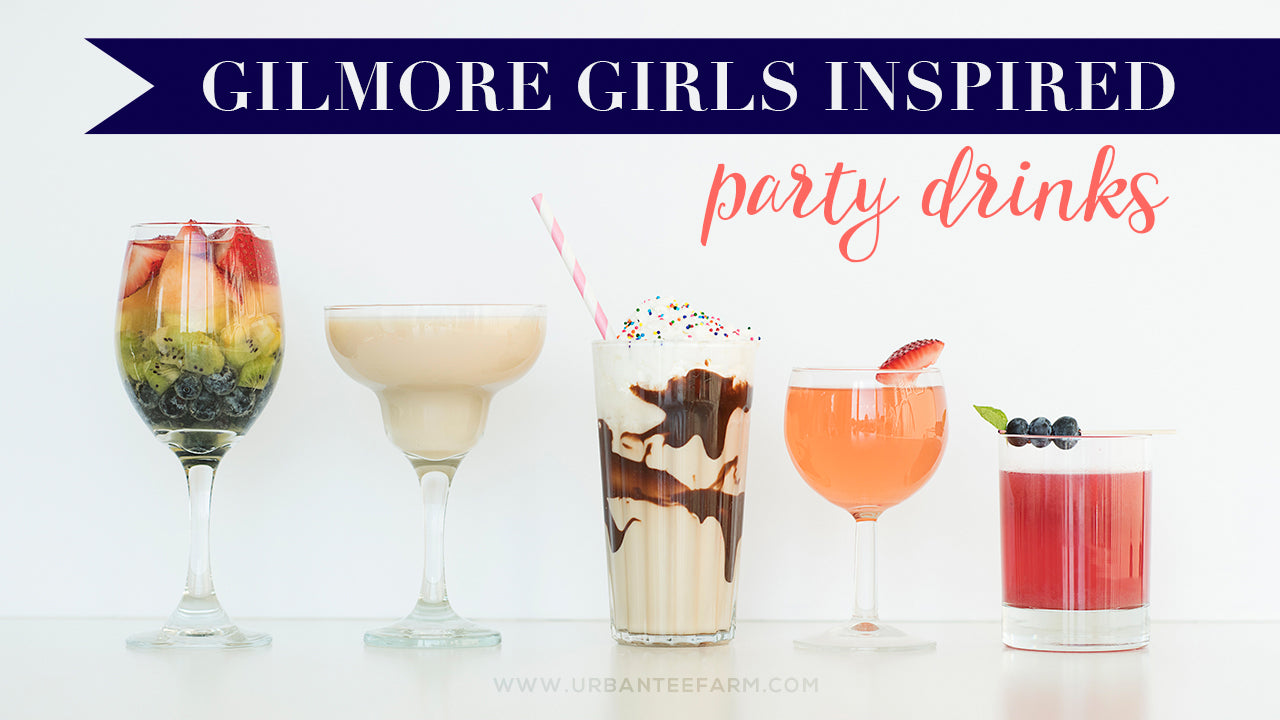 Gilmore Girls inspired party drink line-up