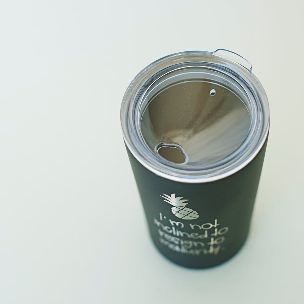 Not Inclined to Resign to Maturity  | Skinny Mini Tumbler - 12oz