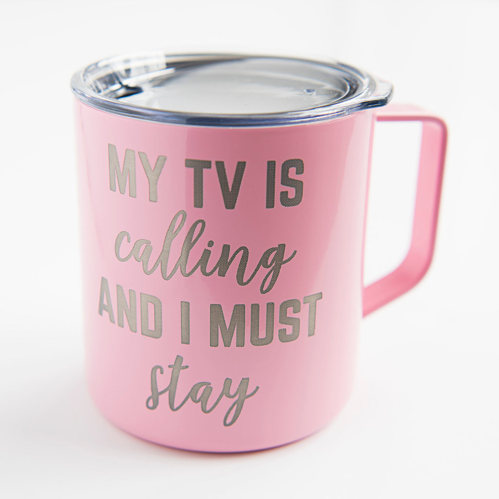 My TV Is Calling and I Must Stay Coffee Mug - 14oz