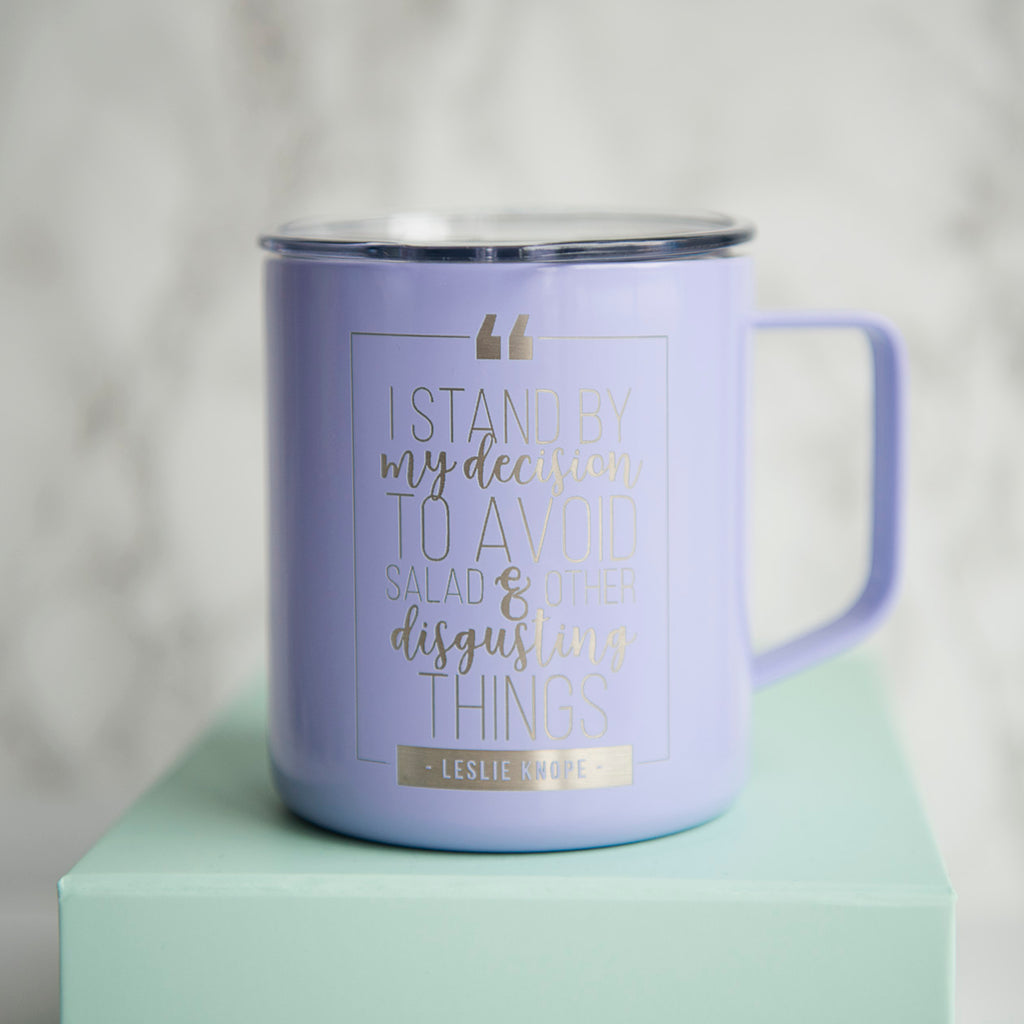 Leslie Knope on Disgusting Things Coffee Mug - 14oz