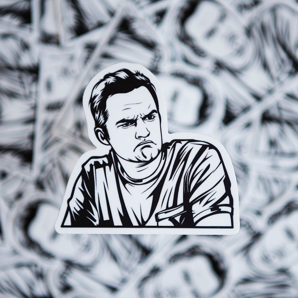 Nick Miller Mood - New Girl Sticker