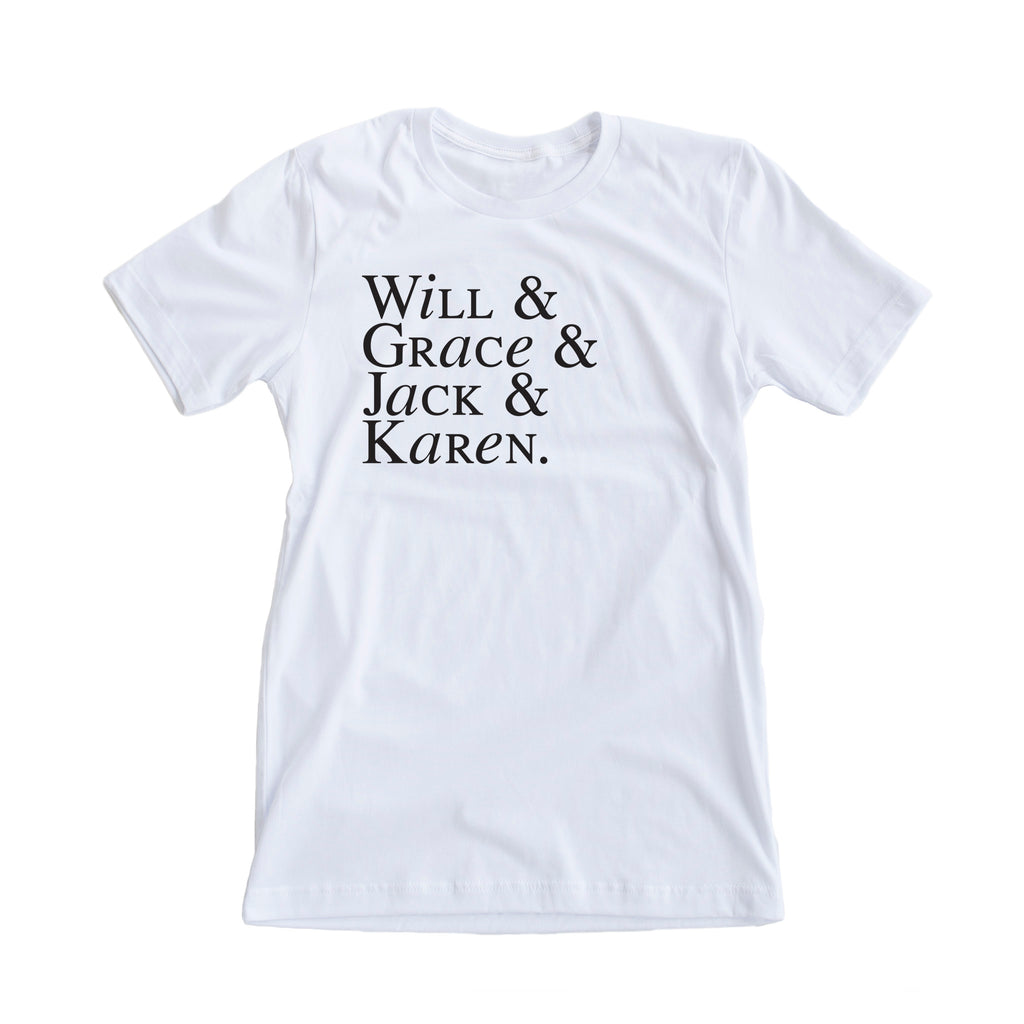 Will and Grace Character Tee