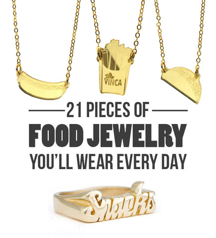 food jewelry on buzzfeed