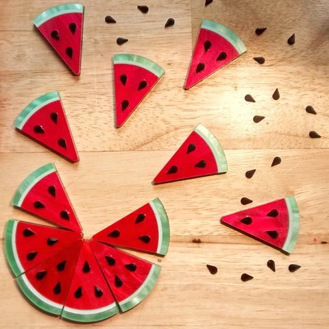 xl watermelon earrings