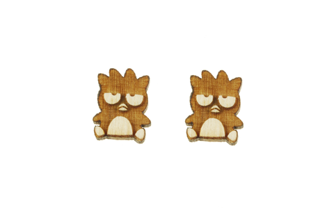 Badtz-Maru® Body Earrings in Birch Wood