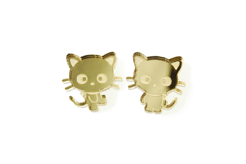 Chococat® Body Earrings in Mirror Gold