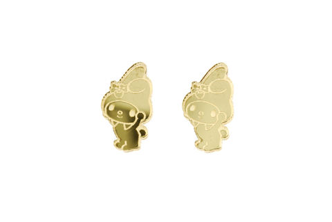 My Melody® Body Earrings in Mirror Gold