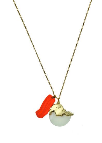 Gudetama Charm with Bacon Necklace ~ FINAL SALE
